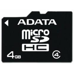 ADATA 4GB MicroSDHC Card Class 4, Adaptor